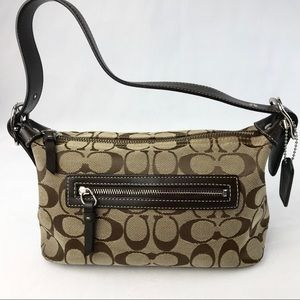 Coach Brown Signature Hobo Cosmetic Bag